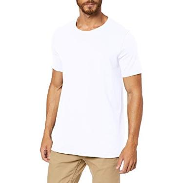 Camiseta Básica, Hering, Masculino, Branco, XG
