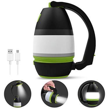 Nishore Lanterna de acampamento recarregável multifuncional USB Lâmpada de mão portátil Luz de acampamento LED impermeável Lâmpada para barraca Lanterna poderosa Tocha Lanternas de sobrevivência port