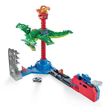 Imagem de Hot Wheels City Pista Ataque Aéreo do Dragão, Conjunto para Carros de Brinquedo, Mattel, Multicor