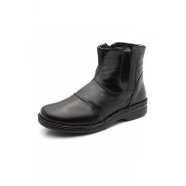 Imagem de Bota Feminina Doctor Shoes 373 Preta 373-Pta-186-1042 feminino
