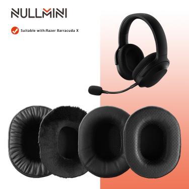 Imagem de Nullmini substituição earpads para razer barracuda x fones de ouvido manga couro fone ouvido