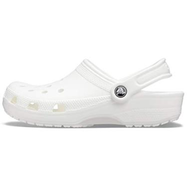 Sandália Classic, Crocs, Adulto Unissex, Branco, 35