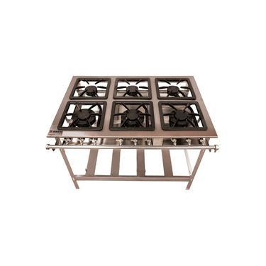 Imagem de Fogão 6 Bocas 3 Duplas Inox Stand Metal Brey Baixa Pressão 106-3D - I