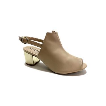 Sandália Boot Amêndoa Dourado - Strax