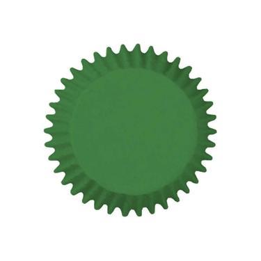 Forma Papel Impermeável Para Cupcake Verde Bandeira Com 45 Unidades Mago