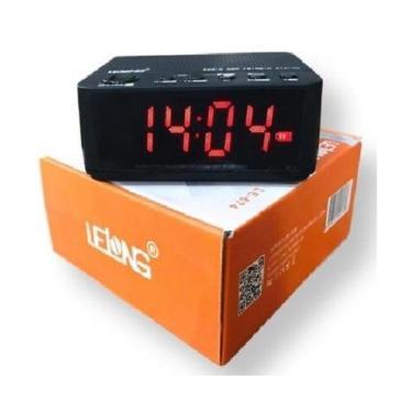 Rádio Relógio Digital Despertador Portátil De Mesa Lelong Bluetooth, Radio Fm, Entrada Para Cartão
