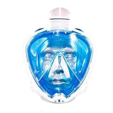 Máscara Mergulho Mormaii Full Face Snorkeling Odyssey/Azul-Transparente/M