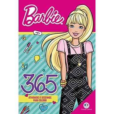Imagem de Livro Infantil Barbie 365 Atividades Desenho Colorir Menina