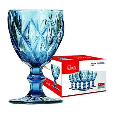 Class Home 453, Taças Agua Diamante - Azul 260ml Azul
