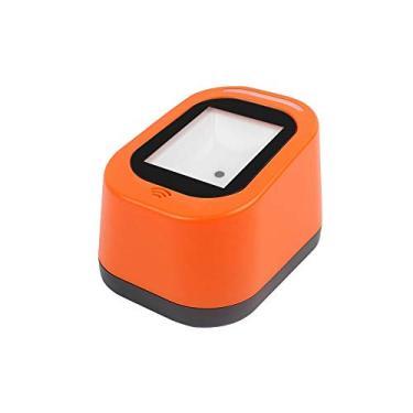 Scanner de código de barras com fio USB Versátil Scan-Hands-free Scan Code QR 1D & 2D Leitor de Código para Supermercados/Lojas (Laranja)