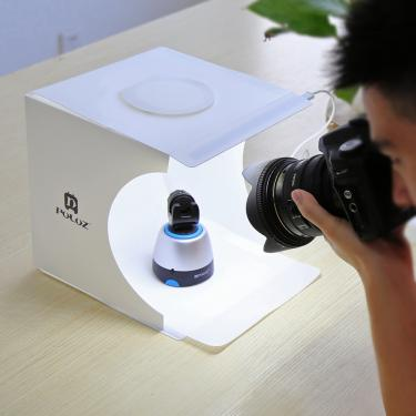 """Imagem de Dobrável lightbox 9 """"24x23x22cm caixa de luz mini estúdio foto fotografia luz estúdio tiro tenda"""