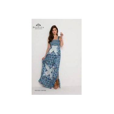 Vestido longo para gestante Duevita
