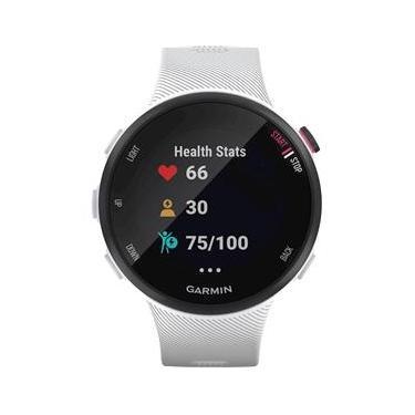 Garmin - Forerunner 45S GPS Smartwatch com Monitoramento Cardíaco - Branco-010-02156-00
