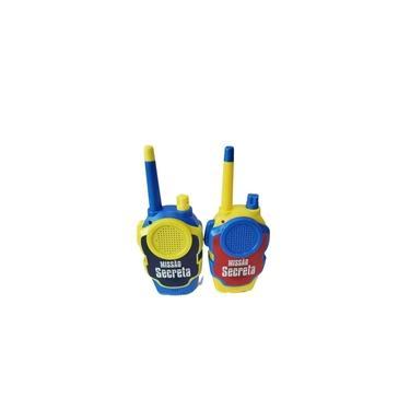 Walkie Talkie Rádio Comunicador Infantil Amarelo/ Azul 2Peça