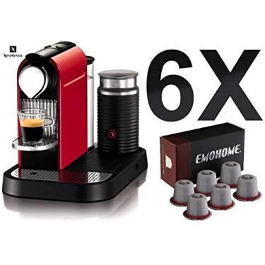 6 Capsulas Refil Reutilizável Da Cafeteira Nespresso Filtro