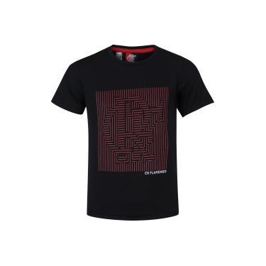 Camiseta do Flamengo Plan - Infantil - PRETO Braziline 432669a2c7971