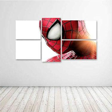 Quadro Decorativo - The Amazing Spider Man - Composto de 5 Quadros