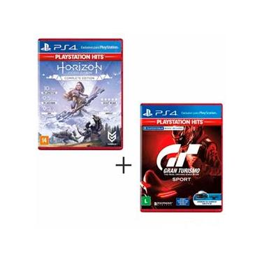 Jogo Horizon Zero Dawn Complete Edition Hits para PS4 & Jogo GT Sport Hits para PS4