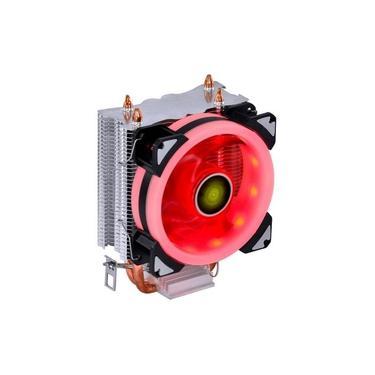 Cooler Para Processador Vinik Vx Gaming Blitzar Led Vermelho