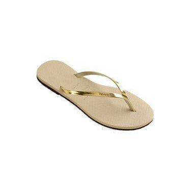 Sandalia Chinelo You Met - Havaianas - Areia/Dourado Claro