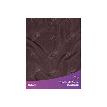 Imagem de Toalha De Mesa Quadrada Em Oxford Marrom Chocolate