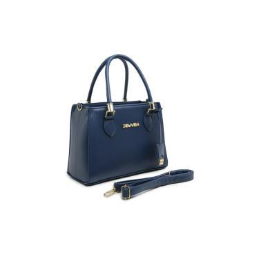 Bolsa GOUVEIA COSTA Tote-Shopper Casual  Alça Mão Zíper Dia a Dia Azul Marinho  feminino