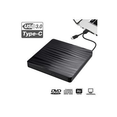 USB 3.0 Gravador de DVD Gravador Externo Slim DVD-RW Leitor de CD-ROM Gravador de Unidade Para Laptop