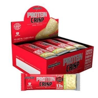 Protein Crisp Bar - 12 Unidades 45g Cheesecake Frutas Vermelhas - IntegralMédica