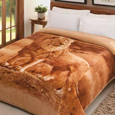 Cobertor Casal Jolitex Pelo Alto Leão 1 7b8ecc7650ff5