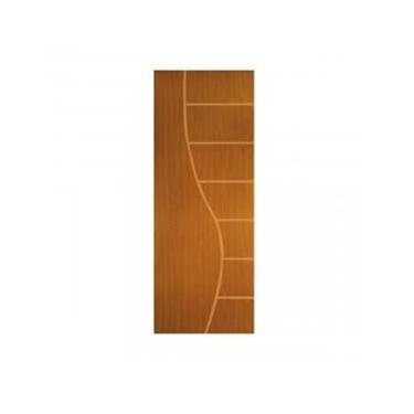 Porta de Madeira Frisada Cantareira MGM 210cmx60cm Melamínico Mogno