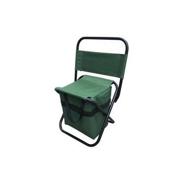 Cadeira Camping Pesca Dobrável Com Bolso
