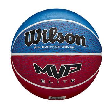 Wilson Bola de basquete masculina MVP Elite, azul/vermelho, tamanho 36