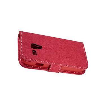 Capa para Celular e Cartão Galaxy S3 Mini Case Mix Vermelho