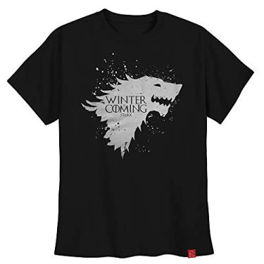 Camiseta Game Of Thrones Camisa Casa Stark Winter Is Coming G