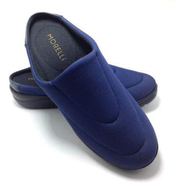 Sapato Feminino Mule Conforto Ortopédico Neoprene 61173 Tamanho:35;Cor:Azul