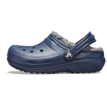 Sandália Crocs Classic Lined Clog K Azul/Cinza  unissex