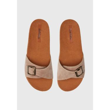 Rasteira Slide DAFITI SHOES Fivela Bege DAFITI SHOES TN 120 feminino