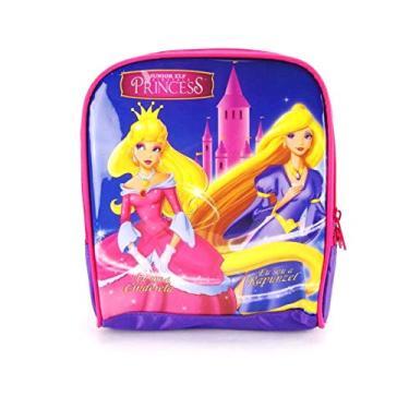 Lancheira Cinderela e Rapunzel Princesas Junior Elf ref LA31003PR Luxcel