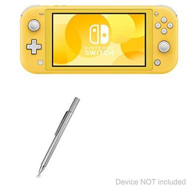 Caneta Stylus Nintendo Switch Lite, BoxWave [FineTouch Capacitive Stylus] Caneta Stylus Super Precisa para Nintendo Switch Lite - Prata Metálica