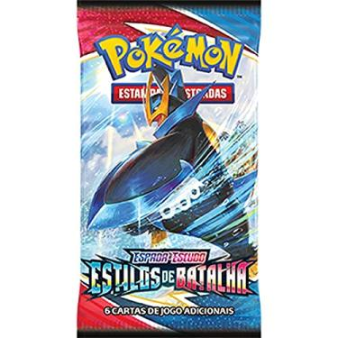 Imagem de Box 36 Boosters Cards Sortidos Pokémon Espada e Escudo 5 Estilos de Batalha Copag - 88832