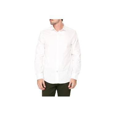 7f7a65ca43 Camisa Social Calvin Klein Algodão