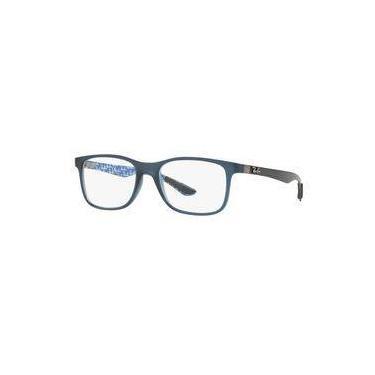 c8d313ed67760 Armação Oculos Grau Ray Ban Rb8903 5262 Lente 55mm Azul Fibra De Carbono
