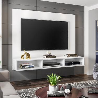 Painel Móveis Leão Quartzo para TV até 55 Polegadas - Branco