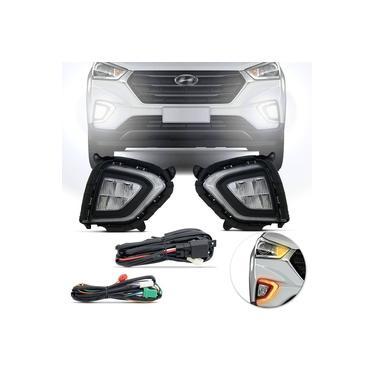Kit Farol DRL LED Milha Hyundai Creta 2020 2021 PCD