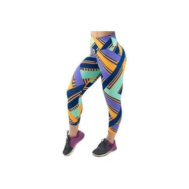 Calça Legging Corsário Estampada Cintura Alta Akira Fitness Feminino