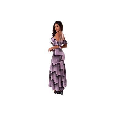 Conjunto Miss Misses Chevron Lilás