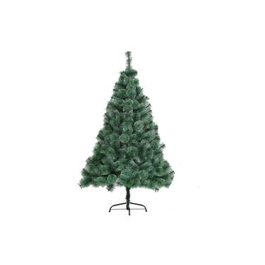 Árvore de Natal Pinheiro Verde Com Neve Modelo Luxo 1.50m 260 Galhos A0615M