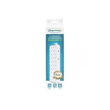 Imagem de Luminária Luz de Emergência 30 Leds Recarregável Bivolt Segurimax - Iluminação de Emergência Slim