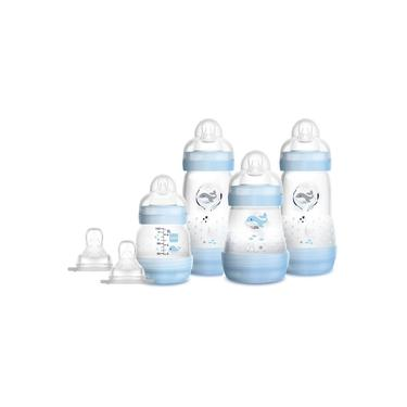 Imagem de Mamadeiras MAM Easy Start Gift Set Conjunto C/4 Azul 0m+ Bebê Meninos