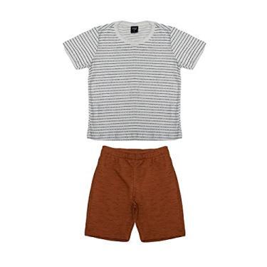 Conjunto Infantil Masculino Select Marrom 10